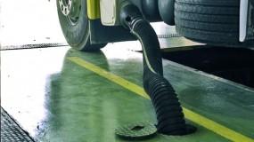 Exhaustare gaze pentru service camioane