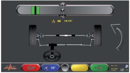 Bracare roti cu precizie, urmarita electronic prin program