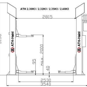 Dimensiuni elevator ATH H3