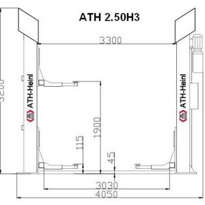 Dimensiuni elevator ATH H3 cu capacitatea de 5 tone