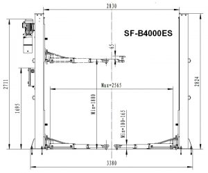 Elevator SF-B4000ES - dimensiuni