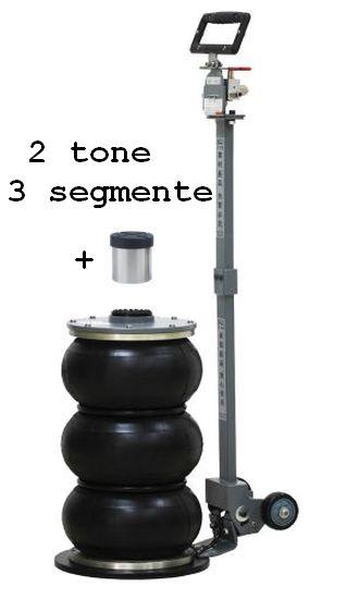 Cric pneumatic 2 tone cu 3 segmente