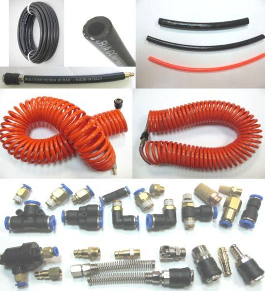 Cuple rapide, conectori, fitinguri si furtun pentru aer comprimat