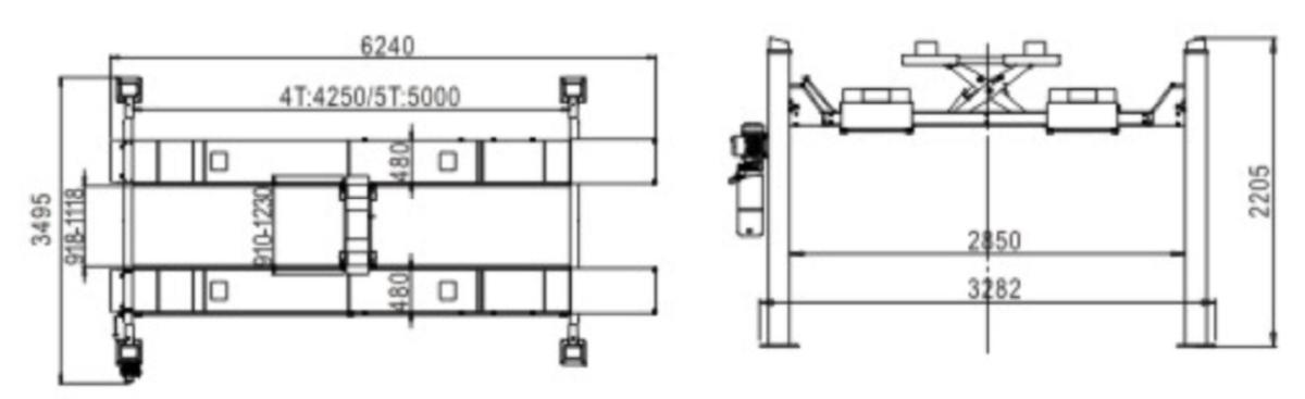 dimensiuni elevator cu 4 coloane Safe