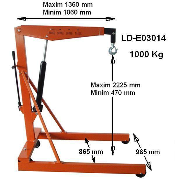 Macara girafa hidraulica 1000 kg