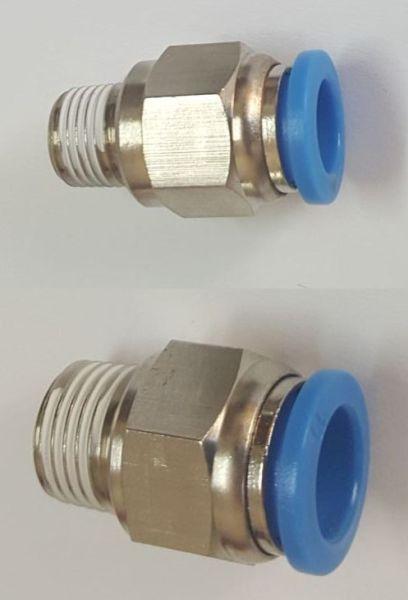 Conectori metalici tip oush-in pentru aer comprimat