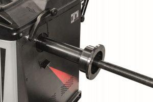 Detaliu sistem laser pentru precizia echilibrarii