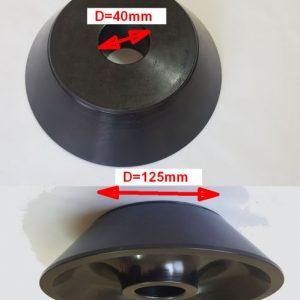 Con echilibrare D40 pentru jante dube cu gaura mare