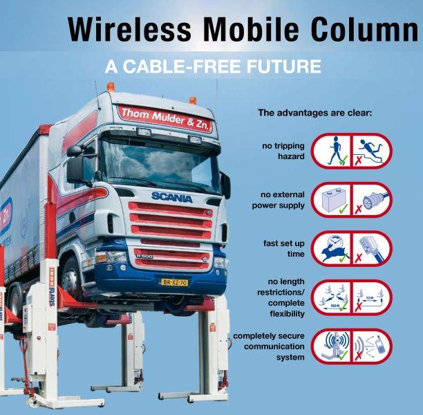 Coloane mobile Stertil cu baterii reincarcabile si comunicare wireless