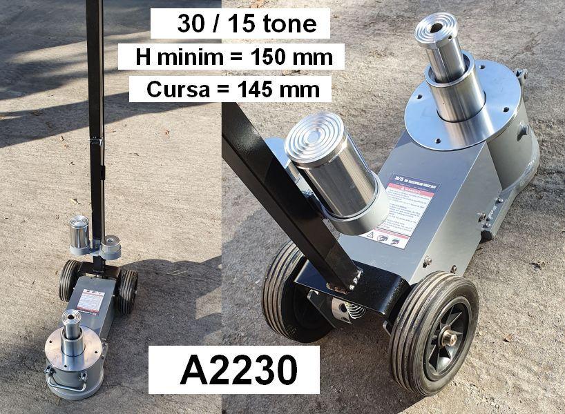 Cric pneumo-hidraulic 30/15 tone