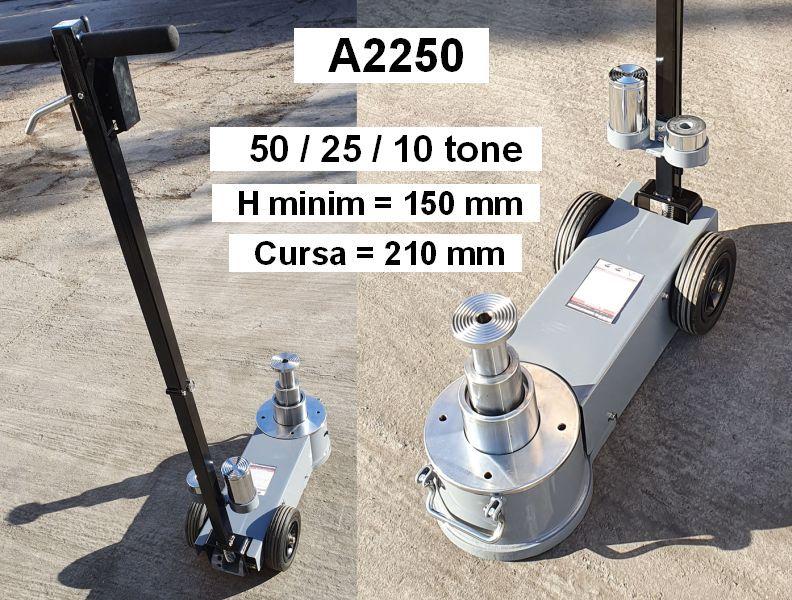 Cric pneumo-hidraulic 50/25/10 tone