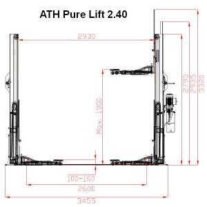 Dimensiuni elevator ATH Pure Lift 2.40