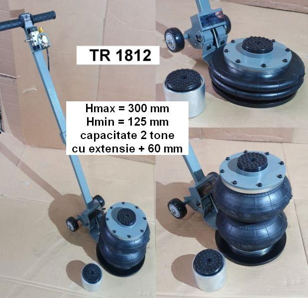 Cric pneumatic TR1812 cu maner lung rabatabil