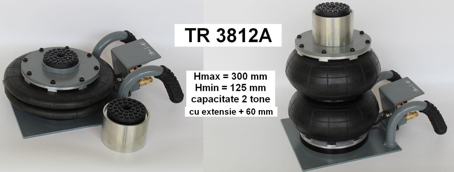 Cric pneumatic TR3812A cu manere curbate