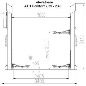 Dimensiuni elevatoare ATH Comfort