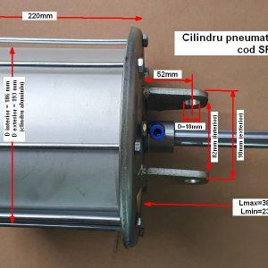 Cilindru pneumatic dejantat cu camasa din aluminiu